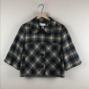 Elliott Lauren 100% Wool Plaid Jacket (Size 8)